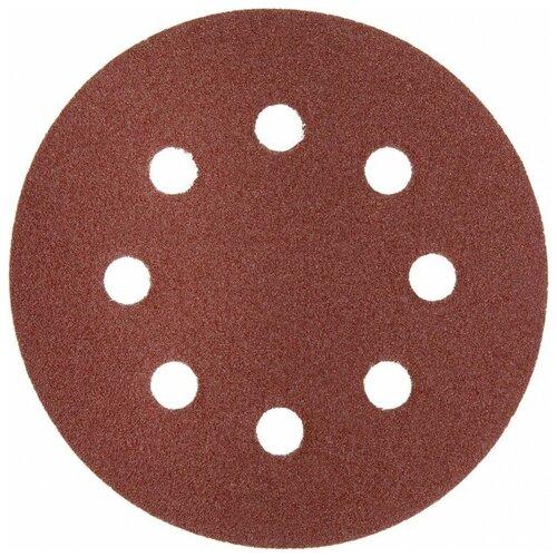 Фото - Шлифовальный круг на липучке ЗУБР 35562-125-080 125 мм 5 шт шлифовальный круг на липучке fit 39666 125 мм 5 шт