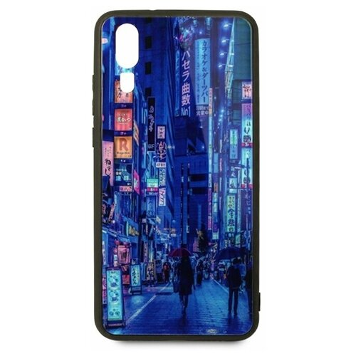 Чехол-накладка Pastila Force print glass для Huawei P20 city