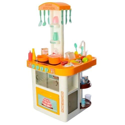 Кухня детская игровая 40 предметов. С водой светом и дымом. 82см высота большой набор кухня с посудой и продуктами 55 предметов со светом звуком и водой 82см