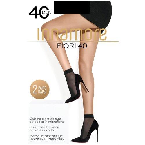Капроновые носки Innamore Fiori 40, 2 пары, размер UNI, nero