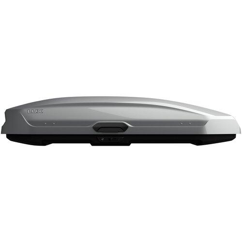 Бокс на крышу LUX TAVR 197, 520л, серый металлик , 197х89х40, с двухсторонним открыванием, арт:LUX-791972