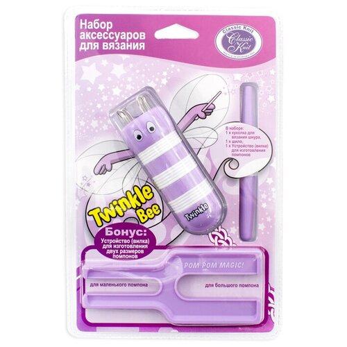 Набор аксессуаров для вязания Twinkle Bee, цвет: сиреневый набор для вязания аксессуаров avenir модные сумочки