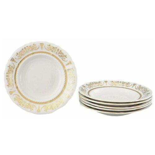 Набор тарелок 23 см 6 шт глубокие Leander Соната /Золотая элегантность / 158347 набор салатников соната золотая элегантность 16 см 6 шт 07161413 1373 leander