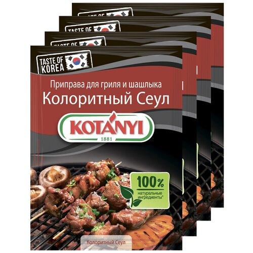 Приправа для гриля и шашлыка Колоритный Сеул KOTANYI, пакет 25г (x4) приправа для тушеных овощей и рагу kotanyi пакет 25г x4