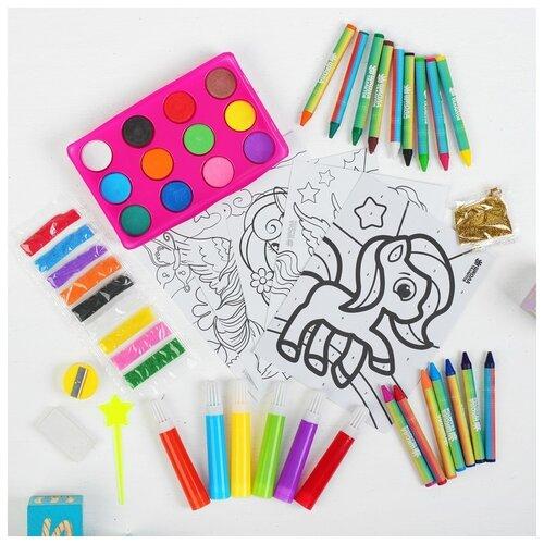 Купить Набор для рисования Школа талантов Волшебный единорог , в пакете, Наборы для рисования