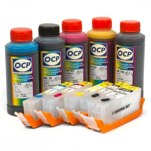 Фото - Набор перезаправляемых картриджей и чернила OCP SafeSet для Canon PIXMA MG5740, MG6840 TS5040, TS6040 мфу canon pixma ts5040 1367c007