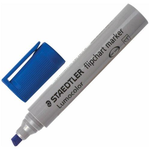 Купить Маркер для флипчарта STAEDTLER (Германия) Lumocolor , непропитывающий, синий, скошенный наконечник, 2-5 мм, 356 B-3, Маркеры
