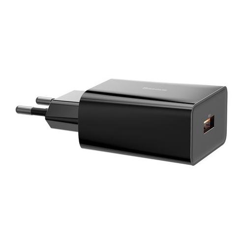 Фото - Сетевое зарядное устройство Baseus Speed Mini QC Quick Charger 1C 20W EU Black (CCFS-SN01) зарядное устройство baseus compact quick charger u c 20w eu black ccxj b01