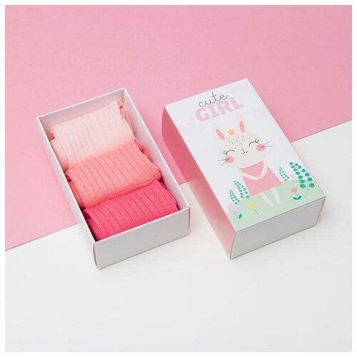 Купить Носки Kaftan комплект из 3 пар, размер 14-16, разноцветный
