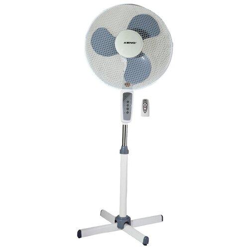 Вентилятор напольный белый / голубой 70 Вт, с пультом