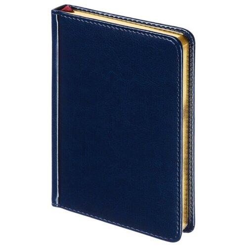 Ежедневник недатированный Sidney Nebraska, А6+, 136л (синий)