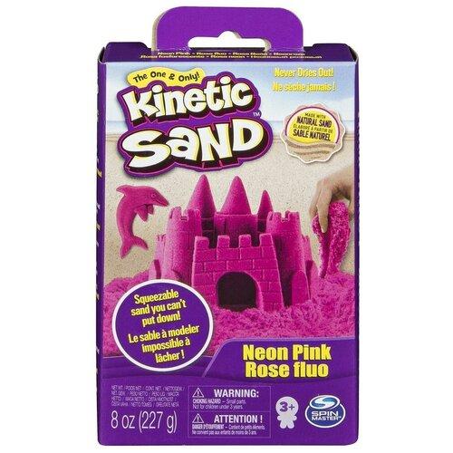 Kinetic Sand Кинетический песок набор для лепки 240 г (розовый)