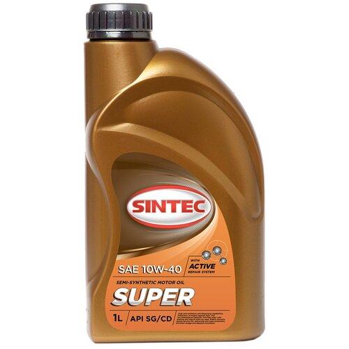 Моторное масло Sintec Super SAE 10W-40 API SG/CD 1л