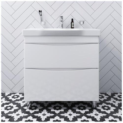 Фото - Тумба под раковину AM.PM Like напольная, ШхГхВ: 80х45х85 см, цвет: белый тумба для ванной комнаты с раковиной am pm like напольная шхгхв 80х45х85 см цвет белый глянец