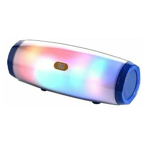 Беспроводная блютуз колонка TG-165 светящаяся ( Синий )
