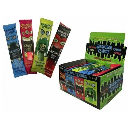 Холодок / Кислотное чудище кислая жевательная конфета красящая язык, ассорти, 50 шт по 10г