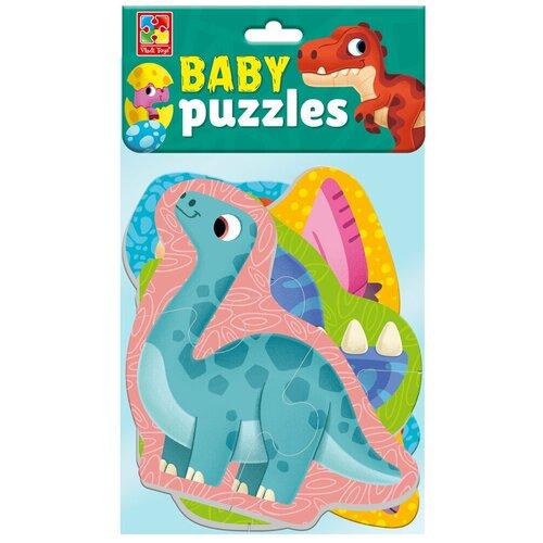 Купить Мягкие пазлы Vladi Toys Baby puzzle Динозавры 4 картинки, 12 эл., VT1106-91, Пазлы