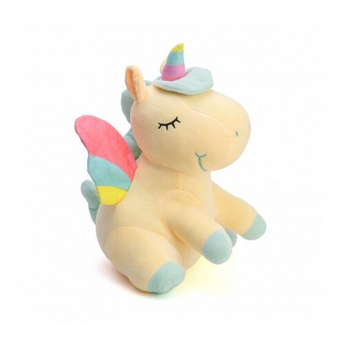Мягкая игрушка Единорог, желтая 22 см