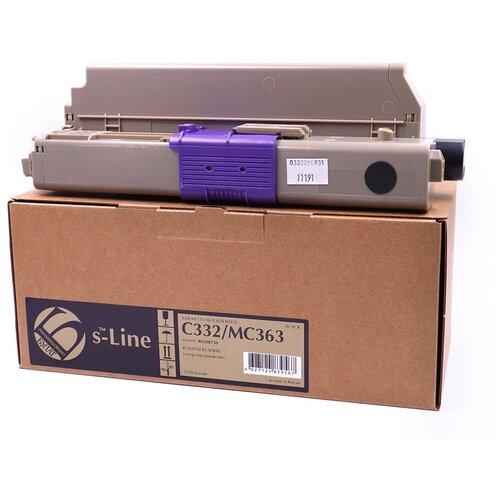 Тонер-картридж булат s-Line 46508736 для Oki C332, MC363 (Чёрный, 3500 стр.)