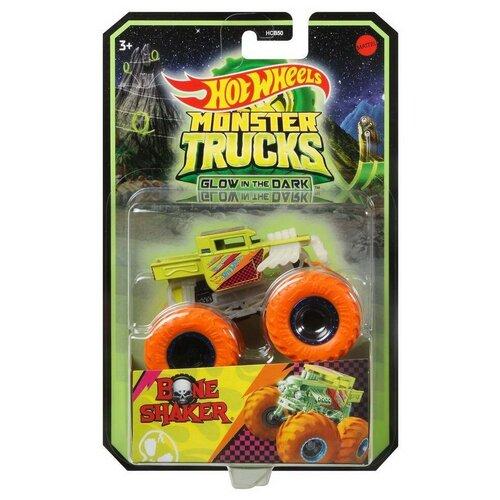 Машинка Mattel Hot Wheels Светящийся в темноте монстр-трак HCB50 машинка mattel hot wheels трейлер с прицепом