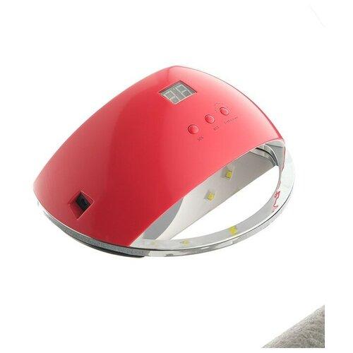 Купить Лампа для гель-лака LuazON LUF-22, LED, 48 Вт, 220 В, 21 диод, таймер 30/60/99 сек., красный