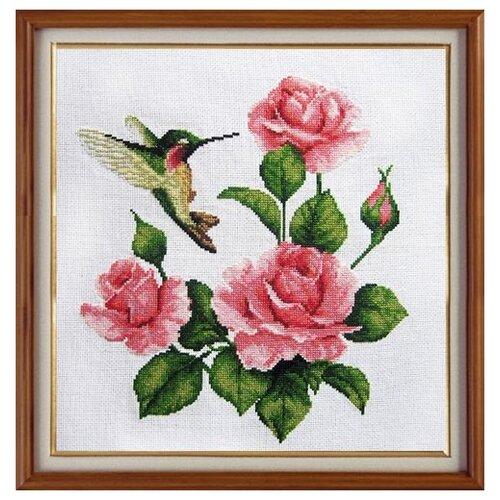 покрывало paters le pastel гобелен с шениллом колибри бежевое 200 220 X-924 Набор для вышивания 'Гобелен Классик' 'Розы и колибри', 28х28 см