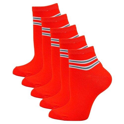 Носки Годовой запас носков укороченные уж5, 5 пар, размер 23 (36-38), оранжевый