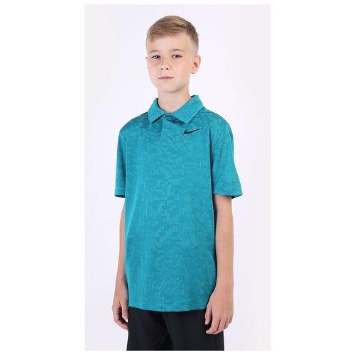 Фото - Поло NIKE Dri-FIT Tiger Woods Big Kids' Printed Golf размер M(137-147), голубой nike толстовка для мальчиков nike sportswear размер 137 147