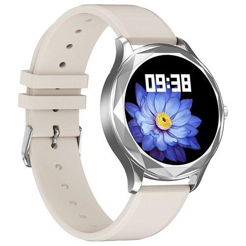 Часы Smart Watch DT86 GARSline серебристые (ремешок белый силикон)