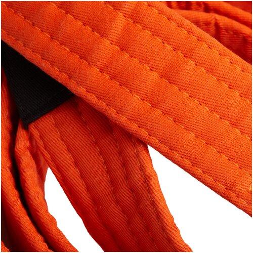 Пояс для бразильского джиу-джитсу 500 оранжевый детский, размер: M2, цвет: Неоновый Морковный/Черный OUTSHOCK Х Декатлон