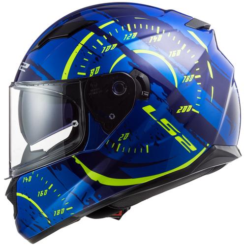 Шлем LS2 FF320 STREAM EVO Tach gloss blue hi-vis yellow (L, Gloss Blue Hi-viis Yellow)