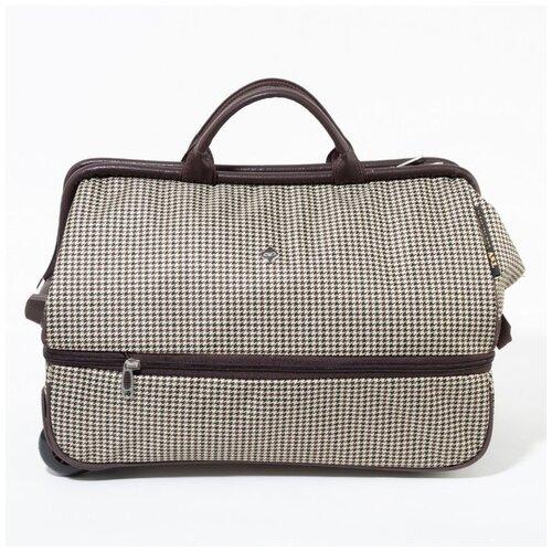 Дорожная сумка-саквояж TsV 514.2 гусиная лапка с колёсами