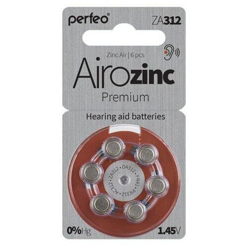 Фото - Батарейки Perfeo ZA312/6BL Airozinc Premium (6 штук) батарейки perfeo za312 6bl airozinc premium 6 штук
