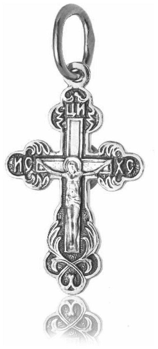 TOP CRYSTAL Крест нательный с Распятием Иисуса Христа и Молитвой Спаси и Сохрани 11012005 — купить по выгодной цене на Яндекс.Маркете