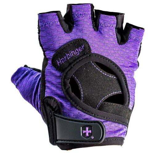 Перчатки Harbinger FlexFit, женские, размер L, фиолетовые женские перчатки harbinger flexfit размер s черные