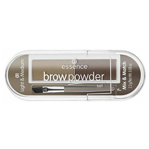 Essence Пудра для бровей Essence Brow Powder Set 01 light and medium