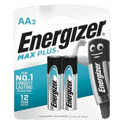 Фото - Батарейки комплект 2 шт., ENERGIZER Max Plus, AA (LR06,15А), алкалиновые, пальчиковые, блистер, E301323101, 2 шт. батарейки pkcell aa пальчиковые 12 шт уп