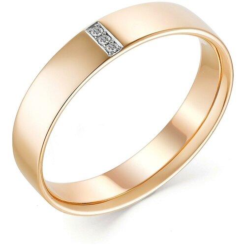 АЛЬКОР Кольцо с 6 бриллиантами из красного золота 13428-113, размер 19 алькор кольцо с 6 бриллиантами из красного золота 13428 113 размер 15 5