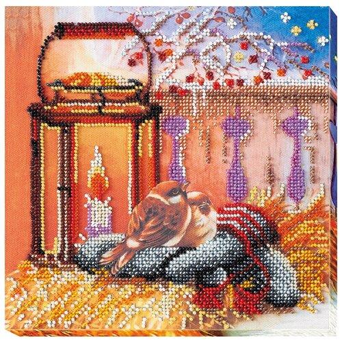 Купить ABRIS ART Набор для вышивания бисером У огонька 20 х 20 см (AMB-040), Наборы для вышивания