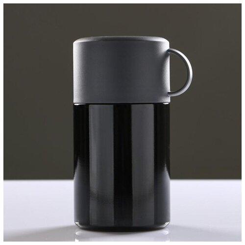 Термос для еды Take it easy с ложкой, 550 мл, сохраняет тепло 12 ч, 11*17 см, черный