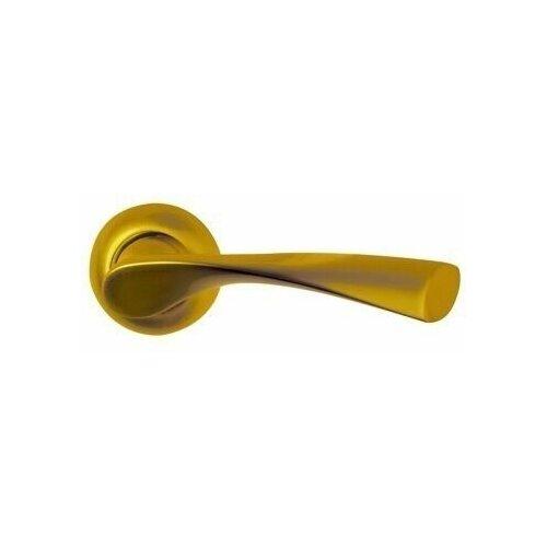 Ручка дверная Оберег Z6099 SG/GP Матовое золото/золото