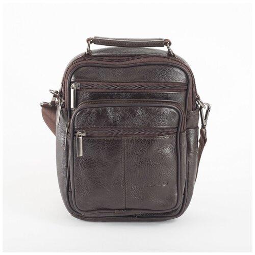 Сумка-планшет мужская XL Zolo, 252-307 коричневая