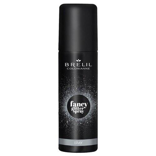 Купить Brelil Professional Fancy Glitter Spray спрей-блеск для волос Silver, 75 мл