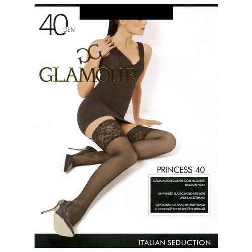 Чулки Glamour Princess, 40 den, размер 3/4-M/L, nero (черный)