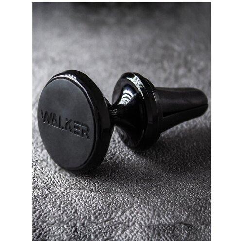 Держатель для телефона автомобильный WALKER CX-01 черный / магнитный держатель на воздуховод / держатель телефона / авто товары / для авто / автомобиль / магнит