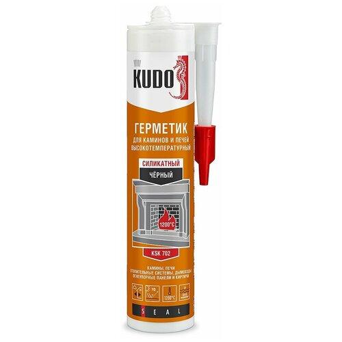 Фото - Герметик силикон. KSK-702 для печей И каминов 1200С силикатн. 280 МЛ черный (12) KUDO герметик силиконовый kudo ksk 121 санитарный белый 280 мл