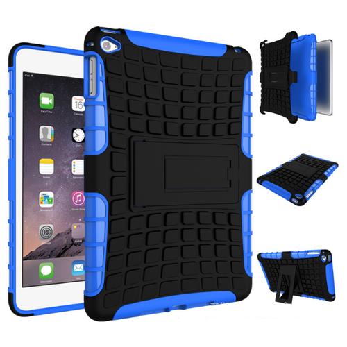 Чехол-бампер MyPads для новый iPad 9.7 2017 противоударный усиленный ударопрочный синий