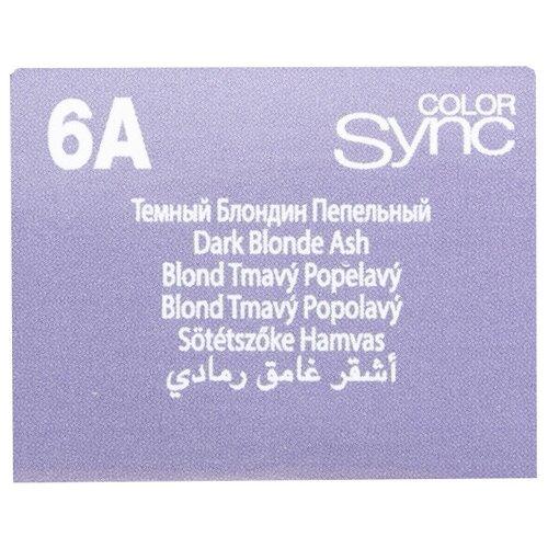 Купить Matrix Color Sync краска для волос без аммиака, 6A темный блондин пепельный, 90 мл
