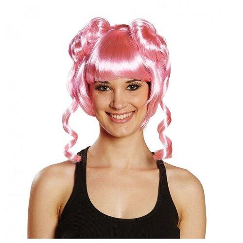 Купить Розовый парик с двумя пучками (12090), RUBIE'S