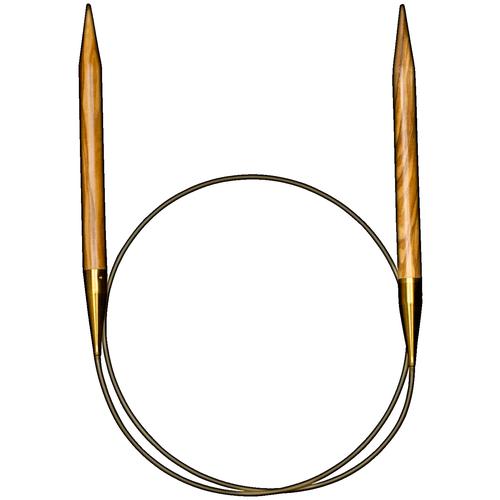 Спицы ADDI круговые из оливкового дерева 575-7, диаметр 3.5 мм, длина 100 см, дерево спицы addi круговые из оливкового дерева 575 7 диаметр 7 мм длина 100 см дерево